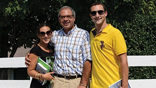 Ashley, Ahmed, and Justin Zayat, along with the rest of the family, travel together as often as they can.