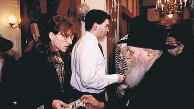 A young Ely Allen meets the Lubavitcher rebbe.