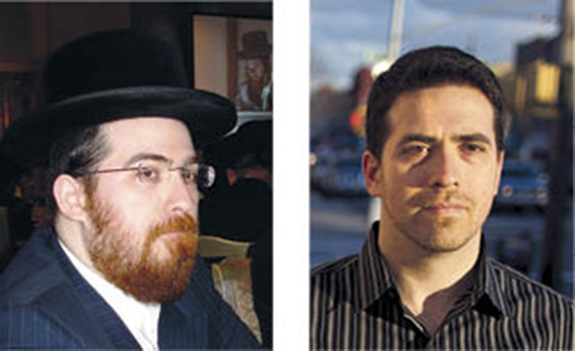 Shulem Deen, left, as a Skverer chasid and right, as he looks today.