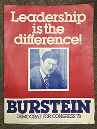 Mr. Burstein ran for Congress in 1978.