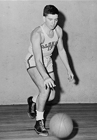 Mr. Burstein is playing basketball at Columbia.