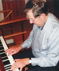 Mr. Burstein also plays the piano.