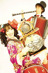 Jinta-la-Mvta, the Japanese klezmer band, will play on June 15.