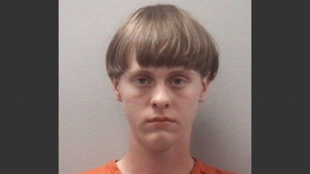 Mug shot of the alleged Charleston shooter
