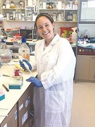 Ariella Levie is at work in Haim Cohen's lab.