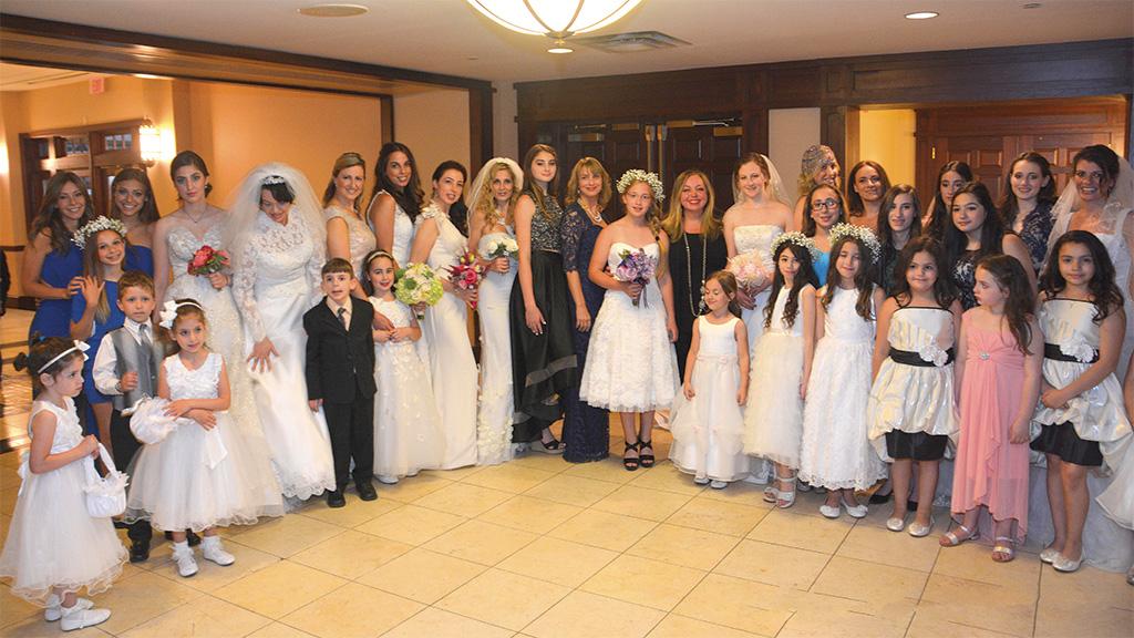 Some models and organizers of WIZO NJ's wedding fashion show. Ilanit Solomonovich Habot