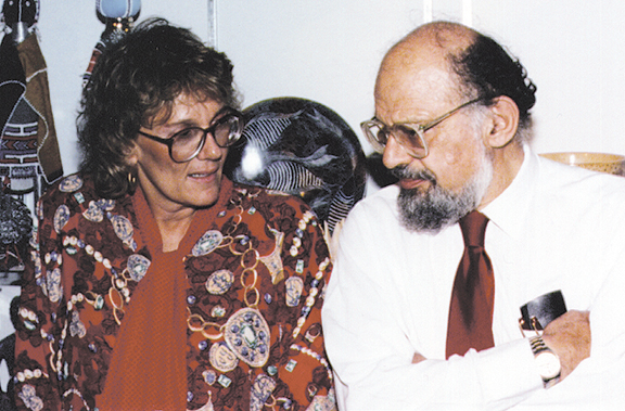 Pat Sebold and her cousin, the poet and beat writer Allen Ginsberg.