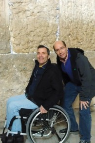 Ron Gold is at  the Kotel in Jerusalem with a good friend, the writer and journalist Gil Troy.