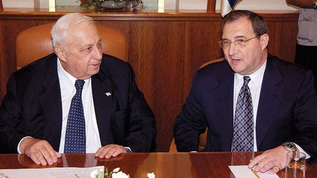 With Ariel Sharon