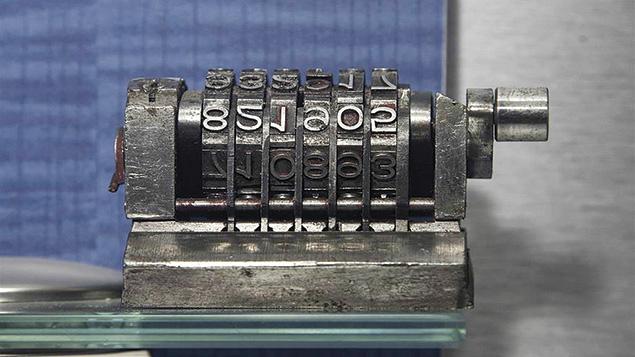 A steel numerator at MadaTech Israel National Museum of Science in Haifa. (MadaTech Multimedia Studio/Israel 21C)