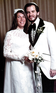 Dr. Steven Huberman and his bride, Frieda Hirshman, in a 1973 wedding photo.