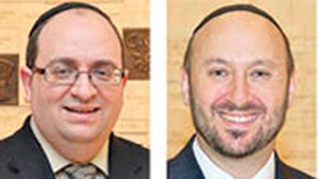 "Yitzchok ""Reb Yitz"" Cohen, left, and Joshua Levine"