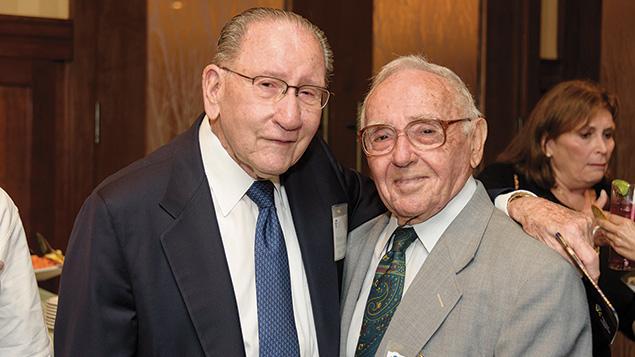 Norman Seiden, left, and Maj. Gen.  (ret.) Amos Horev
