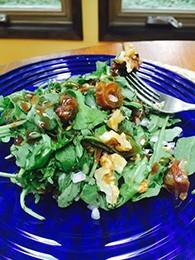 Arugula Date Pomegranate Salad