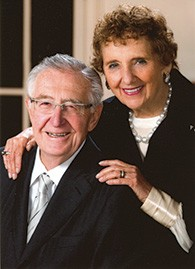 Mike and Elaine Adler formed a formidable business and philanthropic team.