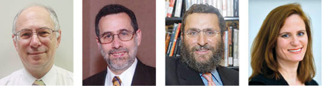From left, Dr. Ben Chouake of Norpac, Rabbi Menachem Genack of the OU, Rabbi Shmuley Boteach, and Laura Fein, the ZOA's New Jersey regional director, all were invited to the meeting.