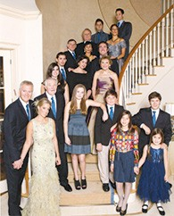 Mike and Elaine Adler with their children and grandchildren.
