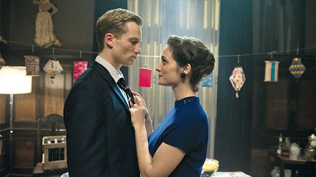 """Alexander Fehling as Johann Radmann and Friederike Becht as Marlene Wondrak in """"Labyrinth of Lies."""""""