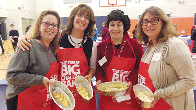 Last year, Mali Baer, Debbie Rosalimsky, Amy Greenberg, and Cindy Dombrinsky baked together.