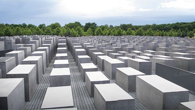 A memorial to the murdered Jews of the Holocaust.