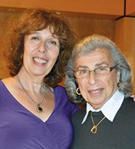 Michelle Levine, who performed at the concert last year, left, with Mickey Taub.