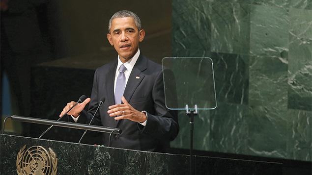Addressing the U.N. General Assembly,  President Barack Obama