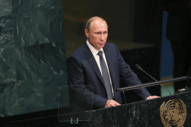 Addressing the U.N. General Assembly,Russian leader Vladimir Putin