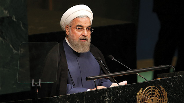 Addressing the U.N. General Assembly, Iranian President Hassan Rouhani