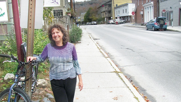 Tobie Weisman in Montpelier, where she is one of four female rabbis attached to the Vermont capital's synagogue. (Ron Kampeas)
