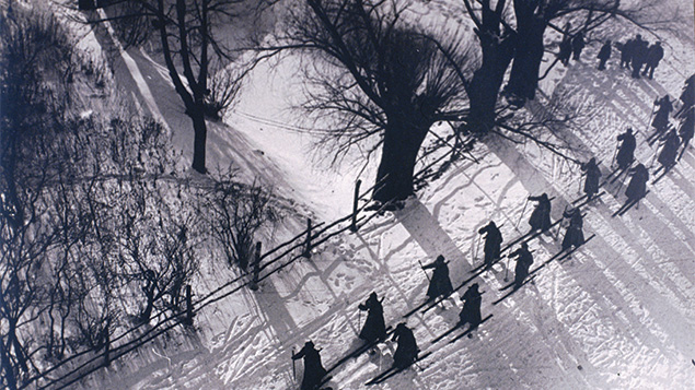 This image come from the show about early Soviet cinema now at the Jewish Museum.