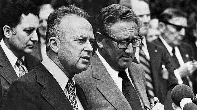 Yitzhak Rabin and Secretary of State Henry Kissinger.