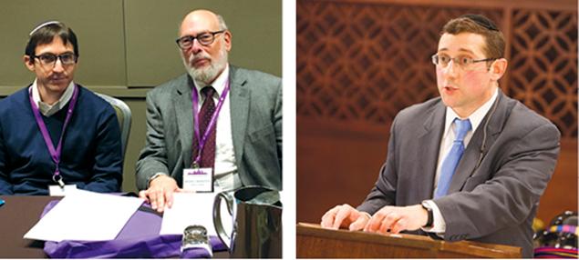 Shlomo Wadler, left, with Dr. Moshe Bernstein of Teaneck. Right, Dr. Jonathan Milgram.