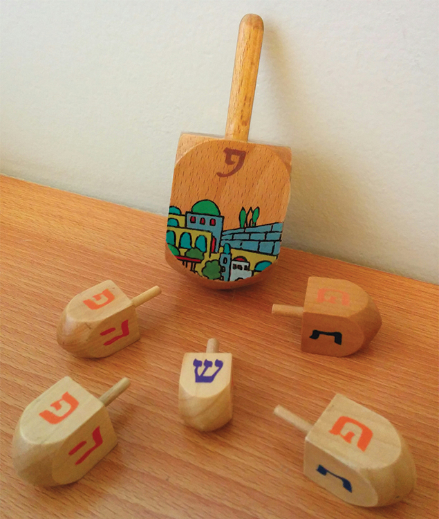 According to Israeli dreidels, a great miracle happened here.Abigail Klein Leichman