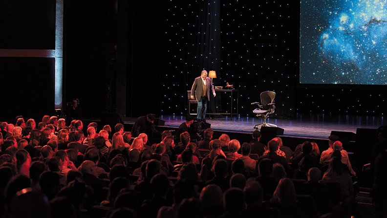 "William Shatner takes the stage in his one-man show, ""Shatner's World."""