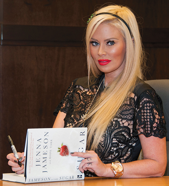 """Former adult actress Jenna Jameson promotes her erotic novel, """"Sugar,"""" at a Barnes and Noble in Los Angeles on October 25, 2013. (Valerie Macon/Getty Images)"""