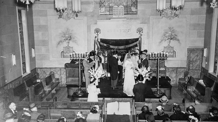 In 1946, Booboo and Buddy got married at Ahavath Torah in Englewood.