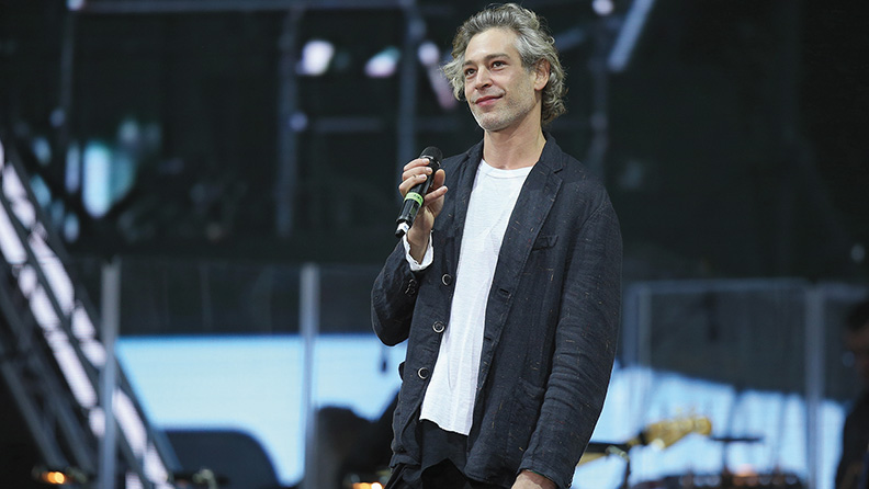 Matisyahu performs at the opening ceremony of the European Maccabi Games in Berlin on July 28. (Sean Gallup/Getty Images)