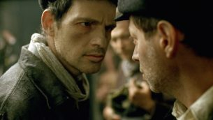 """Géza Röhrig as Saul in """"Son of Saul."""" JTA"""