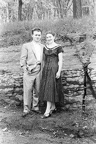 Helen's parents in Montreal, soon after their engagement.