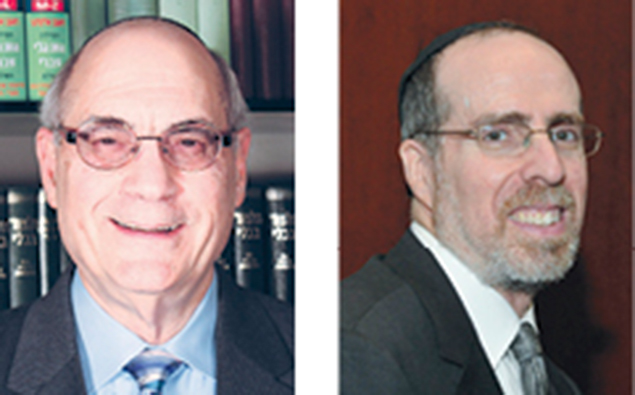 Rabbi Dr. Michael Chernick, left, Rabbi Howard Jachter
