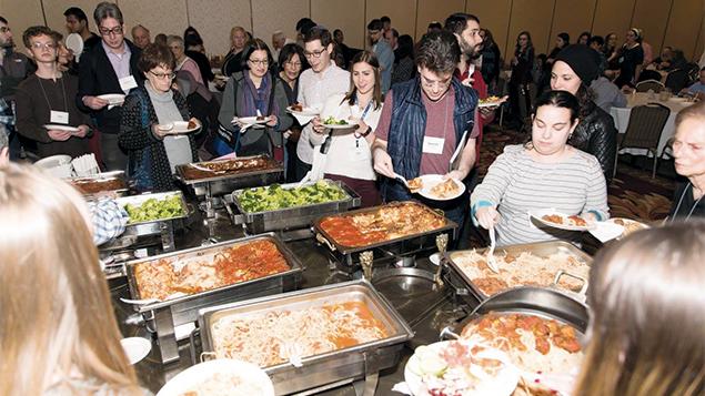 The dinner buffet. (Art Altman)