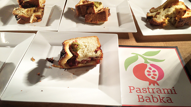 Babka from Pomegranate is stuffed with corned beef or pastrami.
