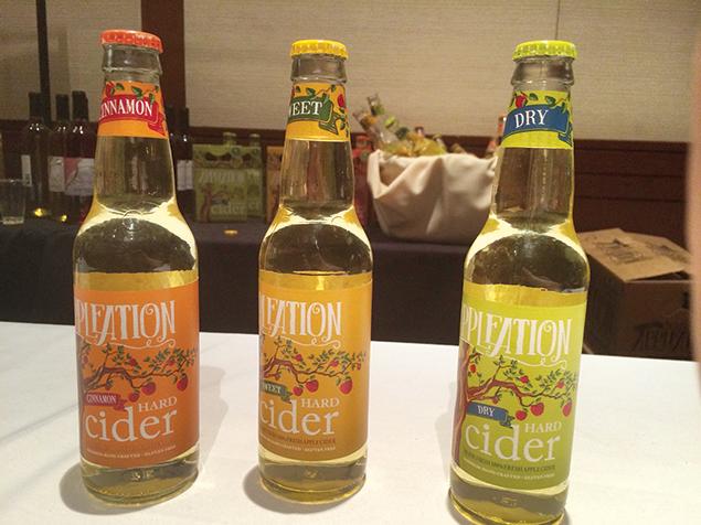 Appleation showcased three varieties of hard cider.