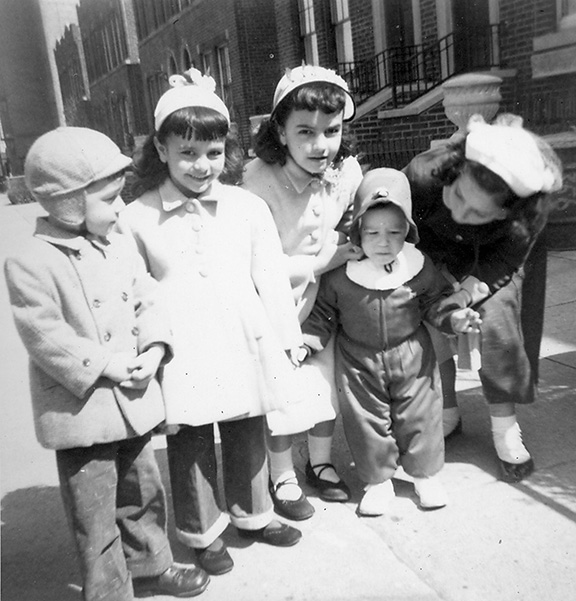 """Siobhan, the smallest child, on Easter (""""I didn't look happy - maybe even then I wished it was Peach"""")"""