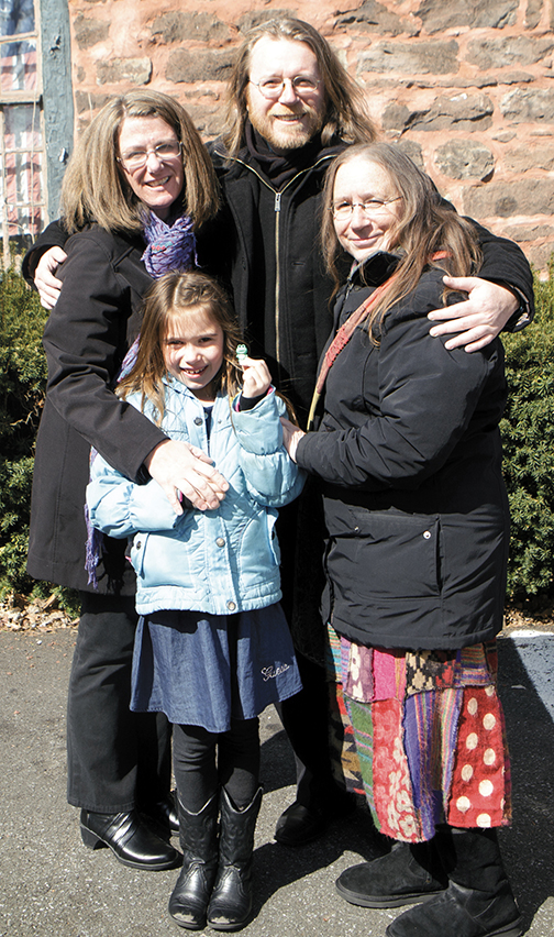 Siobhan, her son, Clarence, her daughter-in-law, Kimberlee, and her granddaughter, Alice Rose.