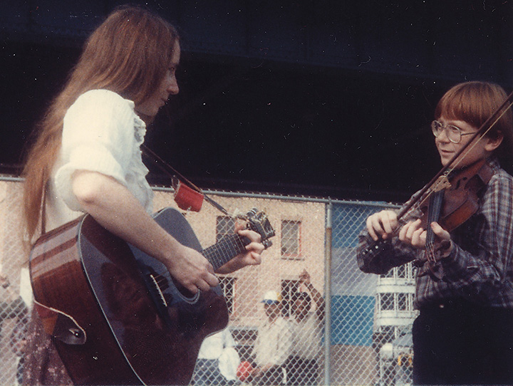Siobhan's son Clarence at the South Street Seaport sometime in the mid 1980s.