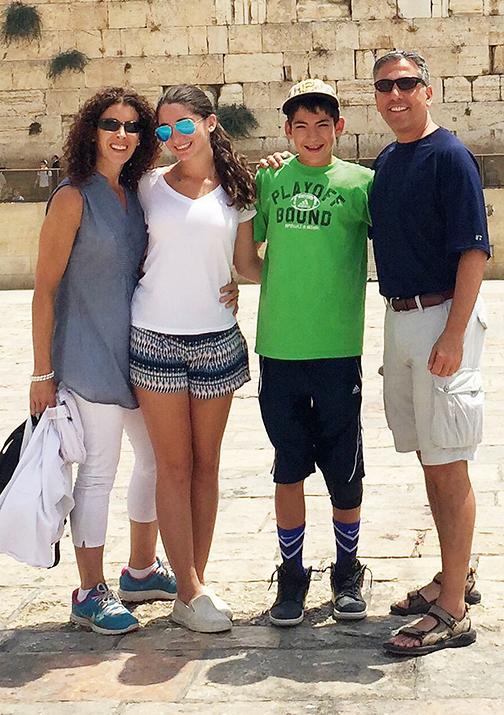 Shari Gersten with her husband, David Rosenblatt, and their children, Arielle and Zeke.
