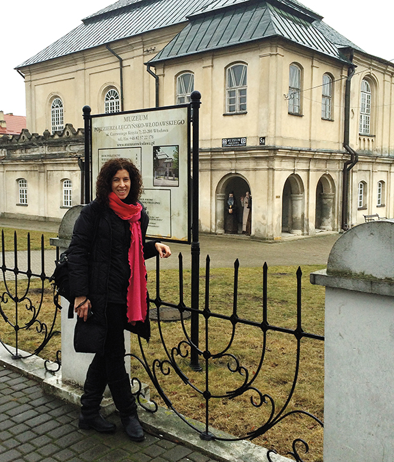 Shari Gersten, of Tenafly, shown here in Poland, is the AOL's new first vice president of leadership and external relations.
