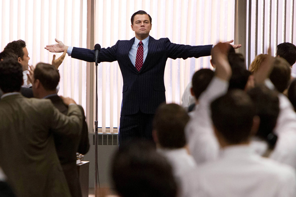 """Leonardo DiCaprio as Jordan Belfort in a scene from 2013's """"The Wolf of Wall Street."""" (Paramount Pictures and Red Granite Pictures, Mary Cybulski)"""