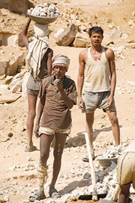 With an estimated 14 million Indians trapped in modern slavery, rock quarries and brick factories in northern India are the epicenter of this global human rights crisis. Slavery is most often found where heavy physical labor is needed: mines; quarries; logging and construction sites; fishing boats and processing facilities; cocoa, rubber and palm oil plantations; and inside private homes as servants. (Peggy Callahan)